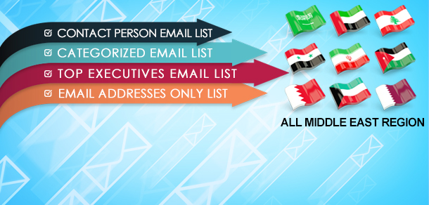 All Middle East Region Business Email Lists