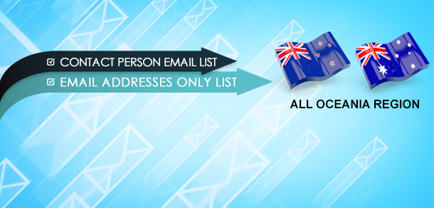Oceania Email Lists
